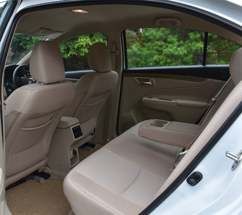 Maruti Ciaz Back Interior